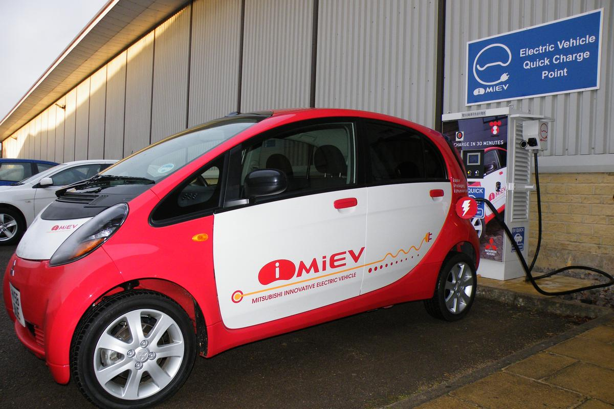 On charge - the fast charger is claimed to replenish the Lithium-ion batteries to 80 percent capacity in just 30 minutes