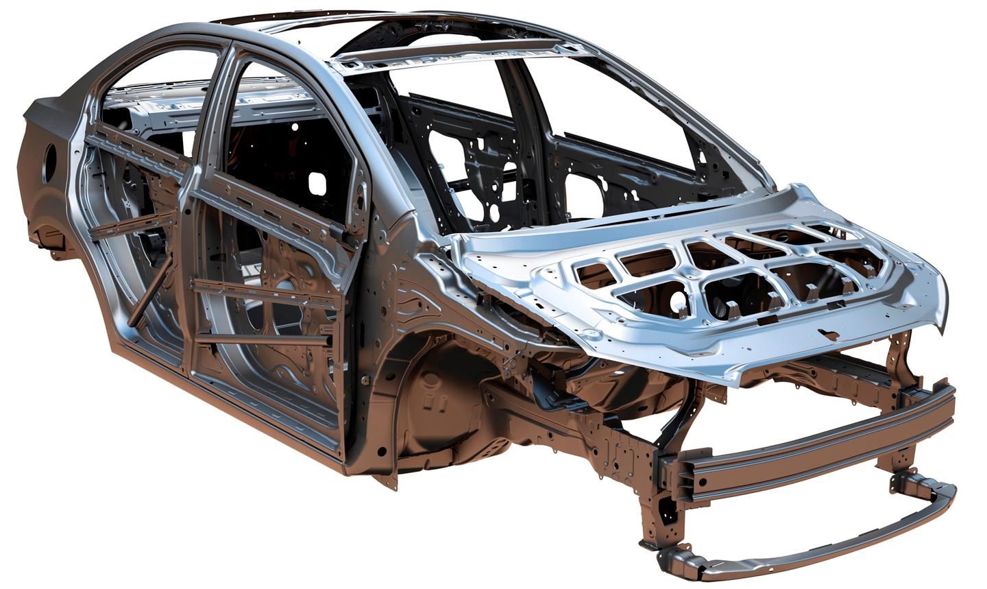 NanoSteel's advanced high-strength steel sheet material will form the structural parts of the car