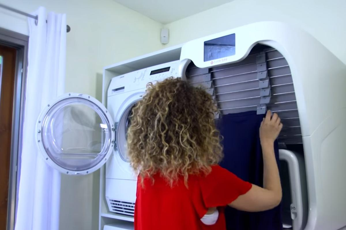 The FoldiMate is a washer-sized machine that can dewrinkle, treat and fold most items of laundry
