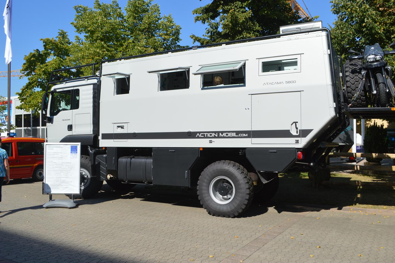 The MAN TGS BL 4x4 transformed into the Action Mobil Atacama 5800