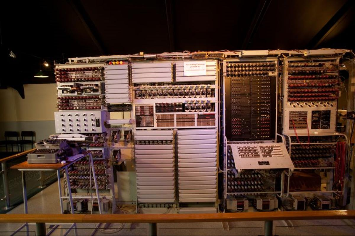Colossus was the world's first programmable digital electronic computer and gave the Allies an advantage over Axis forces in the Second World War