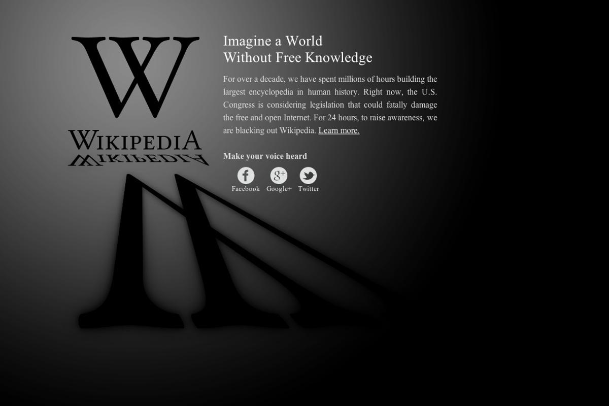 A number of high profile websites are going dark today, to protest the proposed U.S. government bills SOPA and PIPA