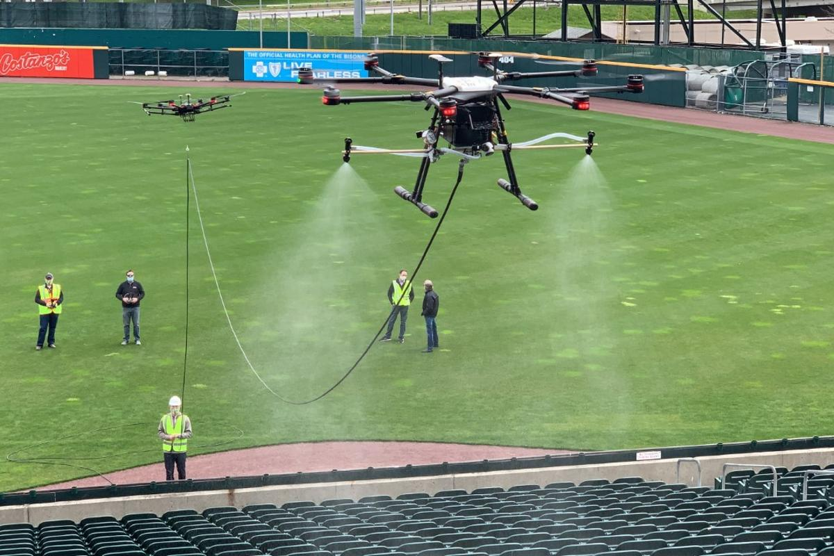 EagleHawk shows off its system at Sahlen Field
