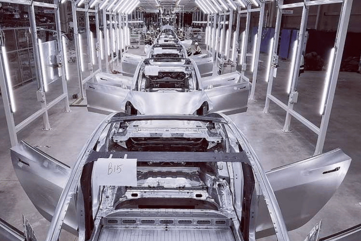 Tesla says it is already putting together full vehicles at its Shanghai Gigafactory on a trial basis