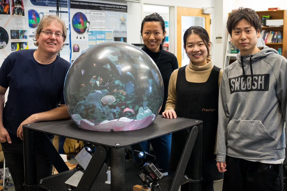 A team from the University of British Columbia and University of Saskatchewan has pioneered a multi-user crystal ball VR touch display