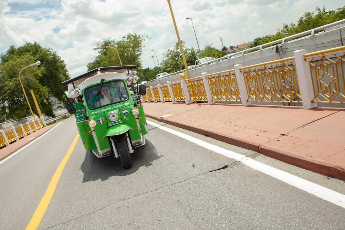 The green tuk-tuk will take The Pilgreens on an epic journey solely relying on electric power