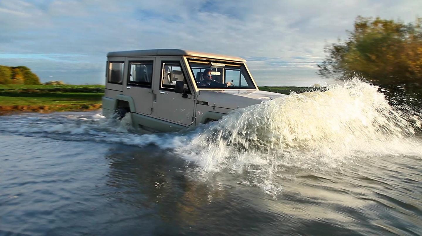 The Amphibicruiser 4-door amphibious SUV takes to the water