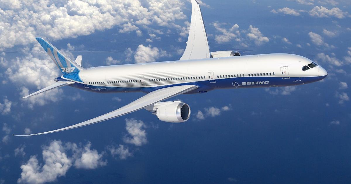 Boeing locks design details for longest 787 Dreamliner