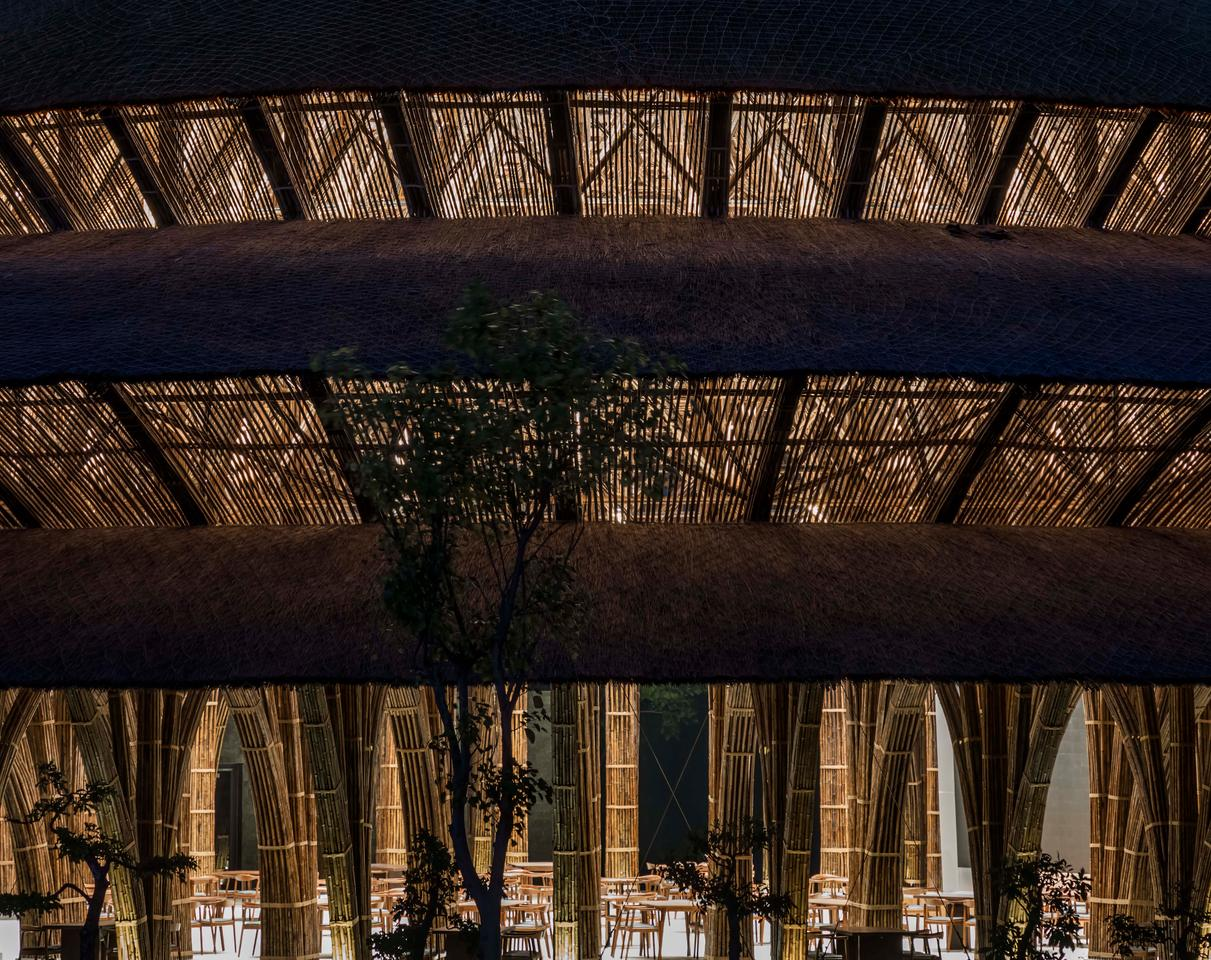 The Vedana Restaurant is defined by a huge circular roof