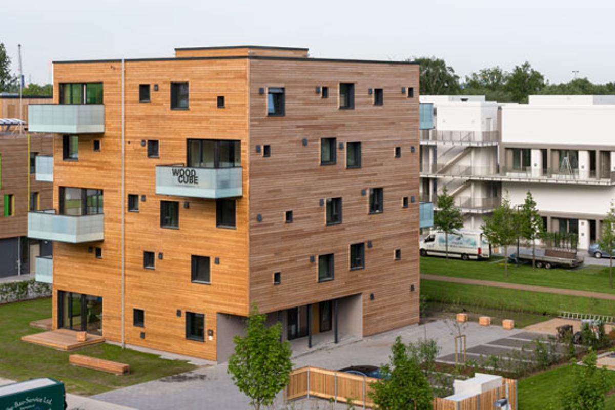 Woodcube is on display at IBA Hamburg until November (Photo: IBA Hamburg)
