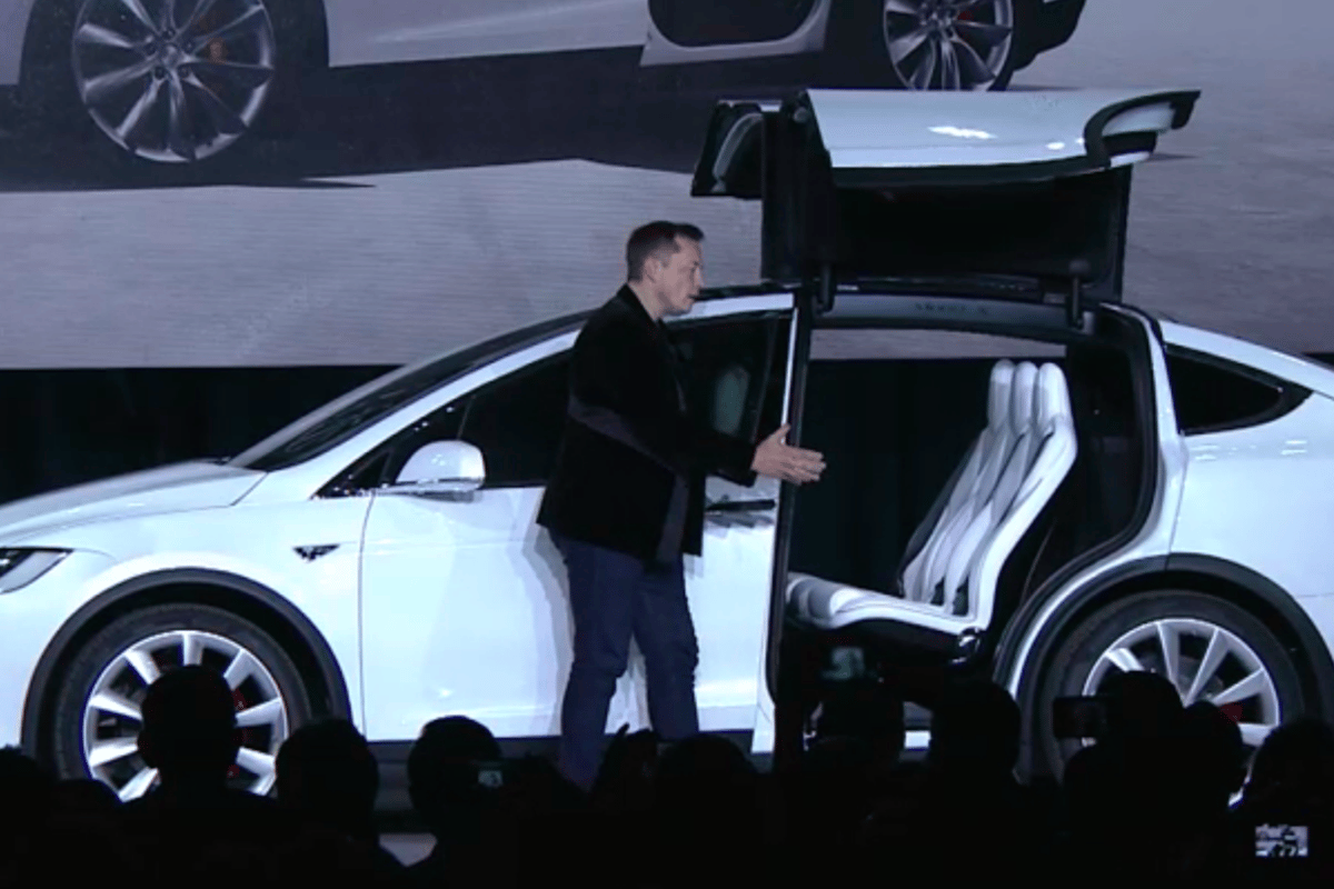Elon Musk introduces the Tesla Model X
