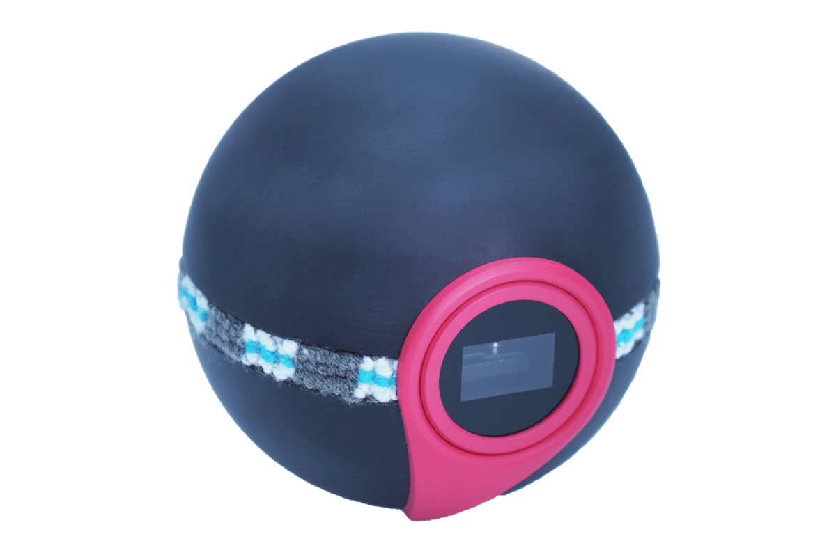 The Nebra AnyBeam protable projector is available in four flavors, including the Monster Ball shown here