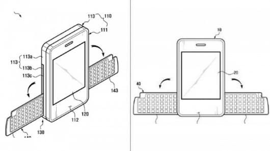 Samsung's folding wing keyboard patent application