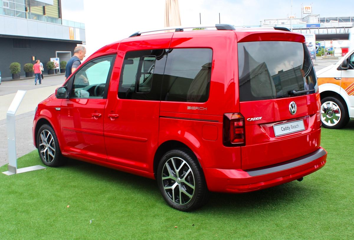 The Caddy Beach is a tiny camper van available from Volkswagen