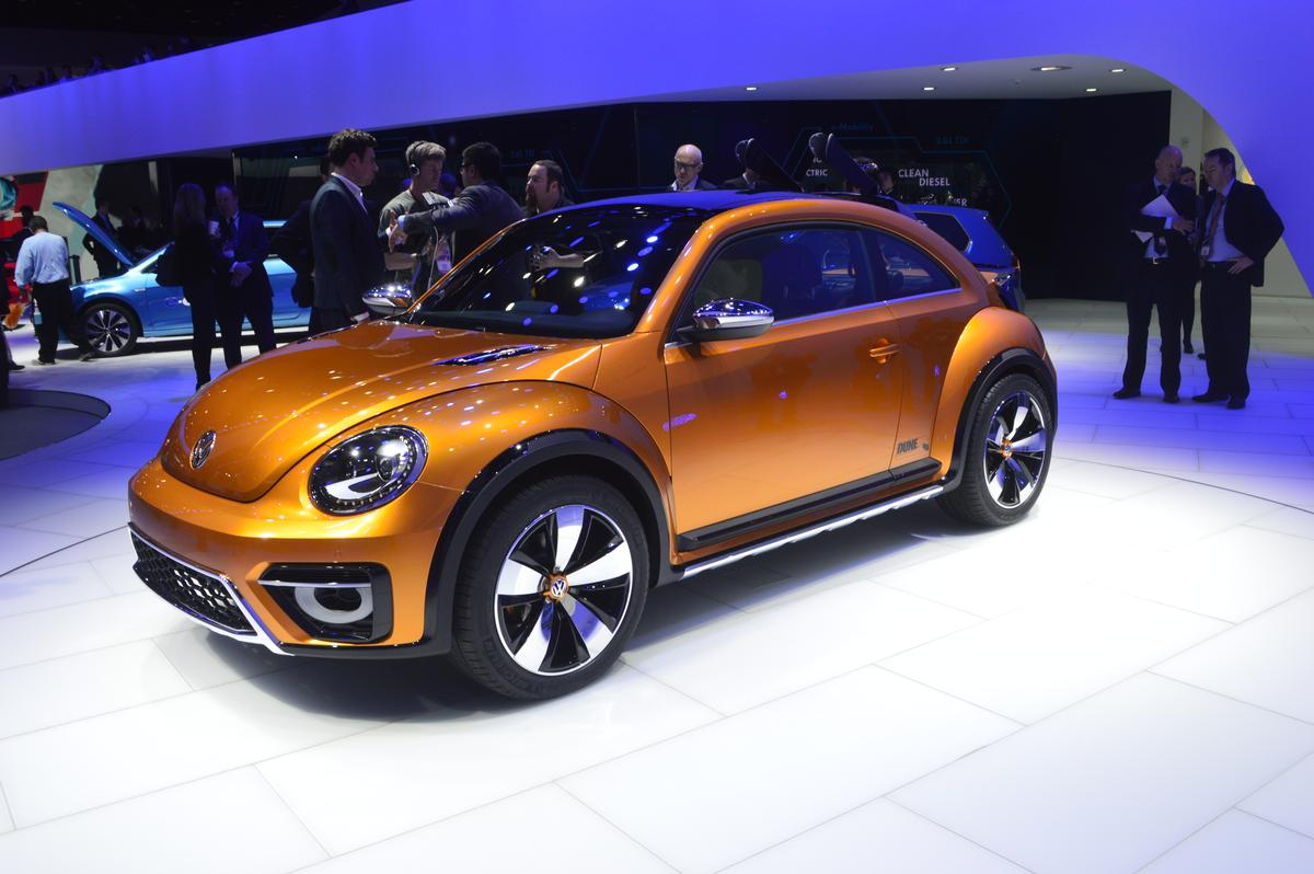 The 2014 Volkswagen Beetle Dune concept at NAIAS