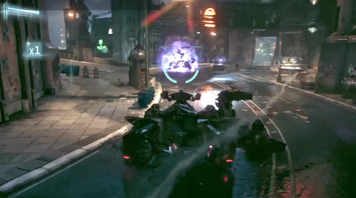 One of the over-the-top, missile-laden, source-material-betraying tank battles, which are far too prevalent in Arkham Knight