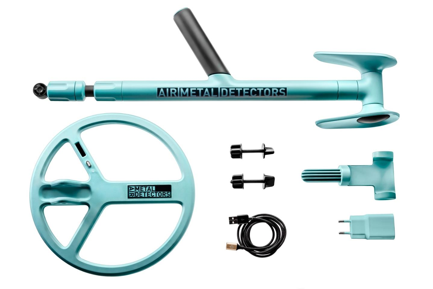The various components of the Air Metal Detector