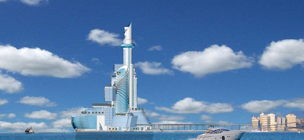 """Europe's first man-made island and """"space hotel"""" is to include """"the world's first zero-gravity spa"""""""