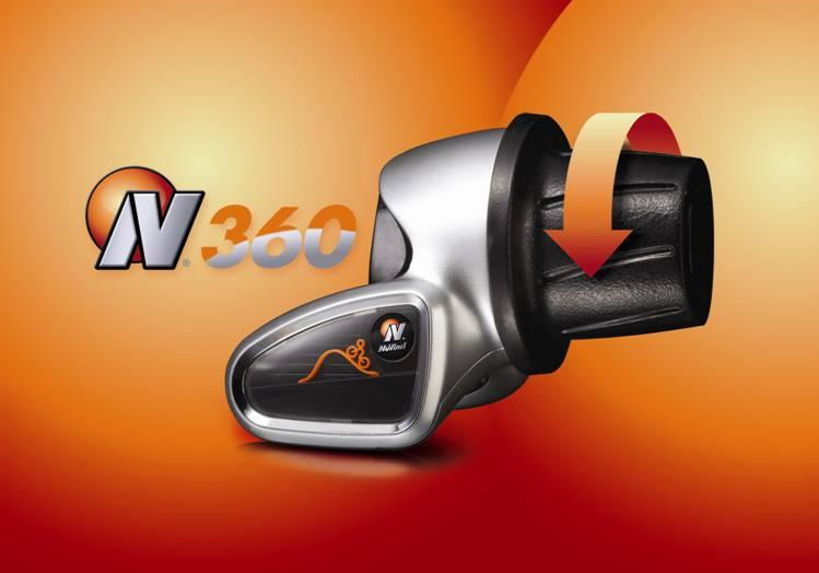 The N360's twist shifter