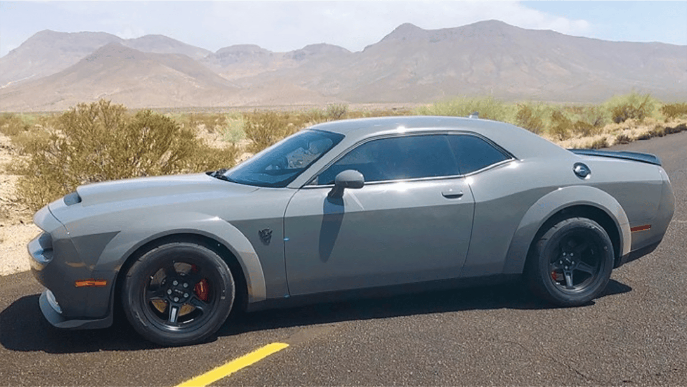 2018 Monterey Car Week Auction Report |A brand new6.2-liter superchargedDodge Demon, the quickest production car available! This car is capable of0-60 mph in 2.3 seconds, 0-100 mph in 5.1 seconds and runs thequarter-milein 9.65 seconds @ 140 mph. With840 hp, it's quite possible this car will deliver the most performance bang-per-buck of the entire week of auction action. MSRP for the aptly named Demon is$85,000, but it's an auction and anything might happen.Auction: Russo & Steele | Lot 5102|Official Description