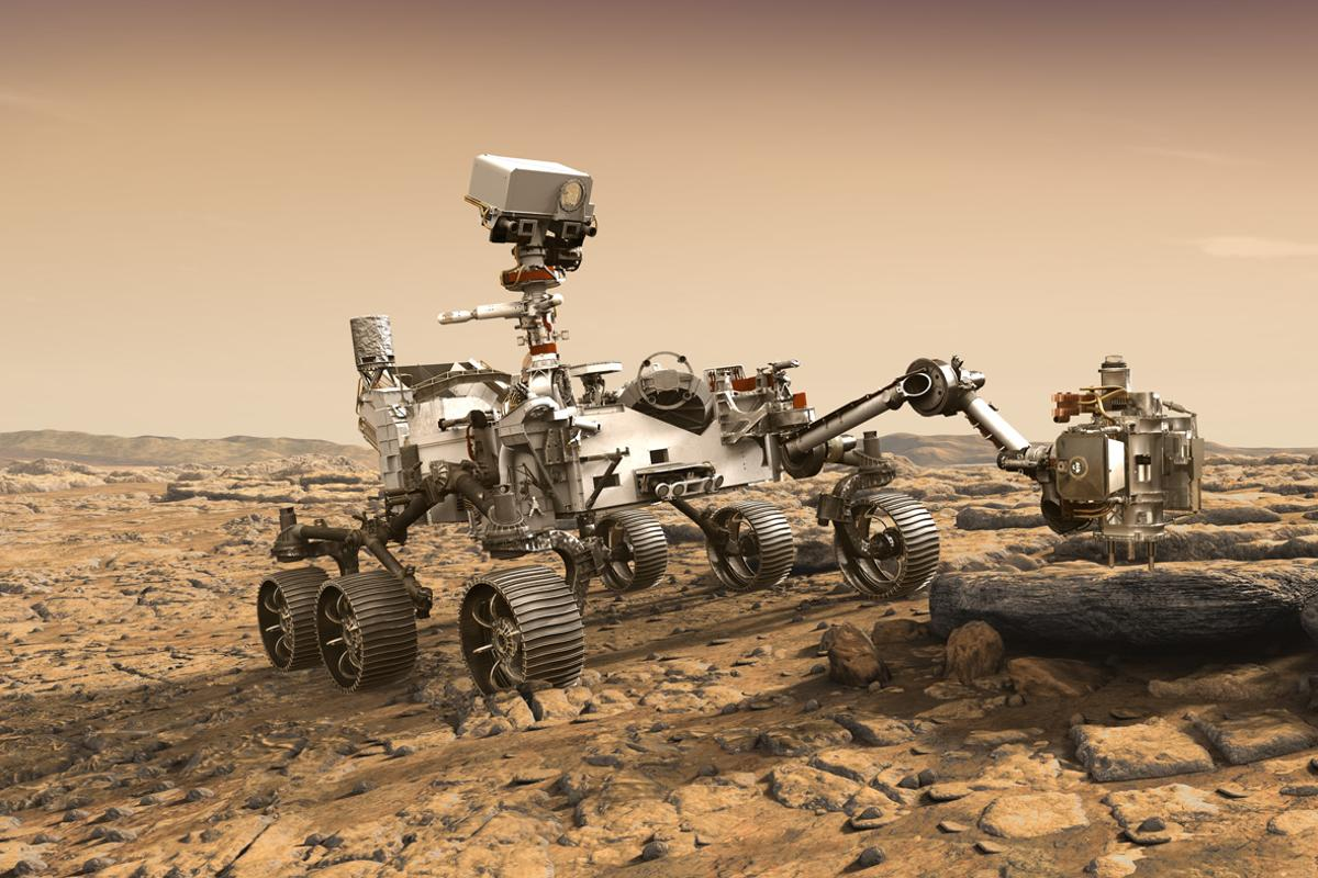 Artist's impression of the Mars 2020 rover