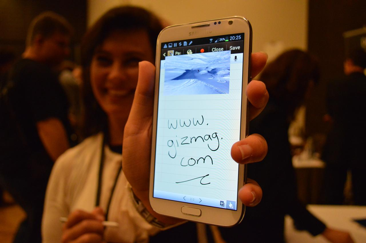 Gizmag gets to grips with Samsung's forthcoming Galaxy Note II