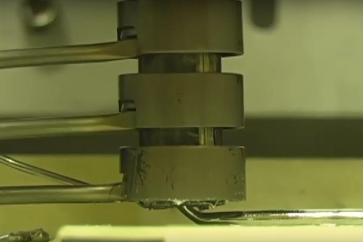 Direct metal writing uses semi-solid heated metals forced through a 3D printer nozzle
