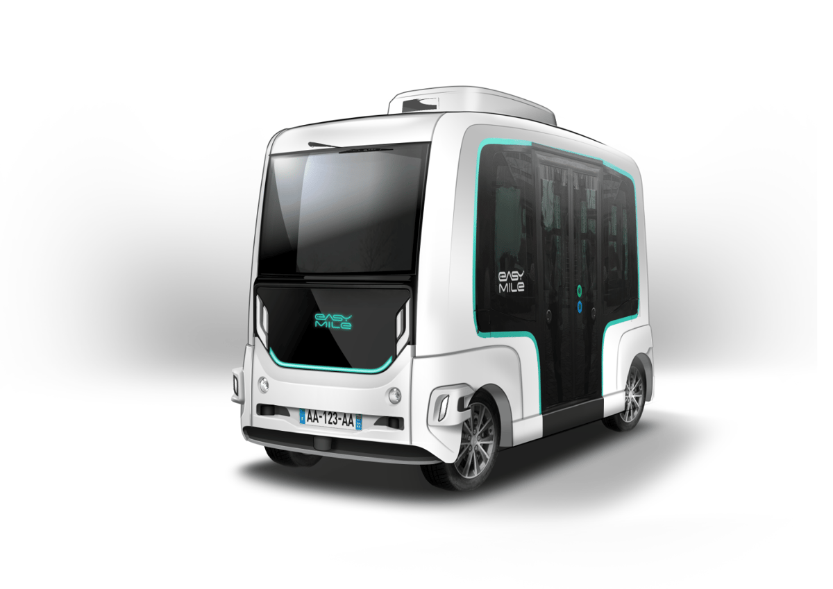 The new EZ10 self-driving shuttle can carry up to 15 people on first or last mile journeys