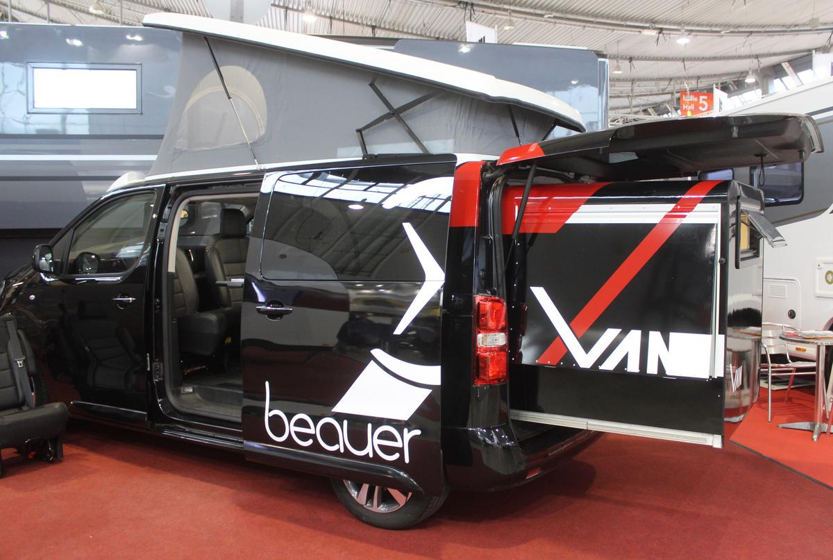 The Beauer X-Van adds a meter of length to the van, creating a bed without the need to fold any seats