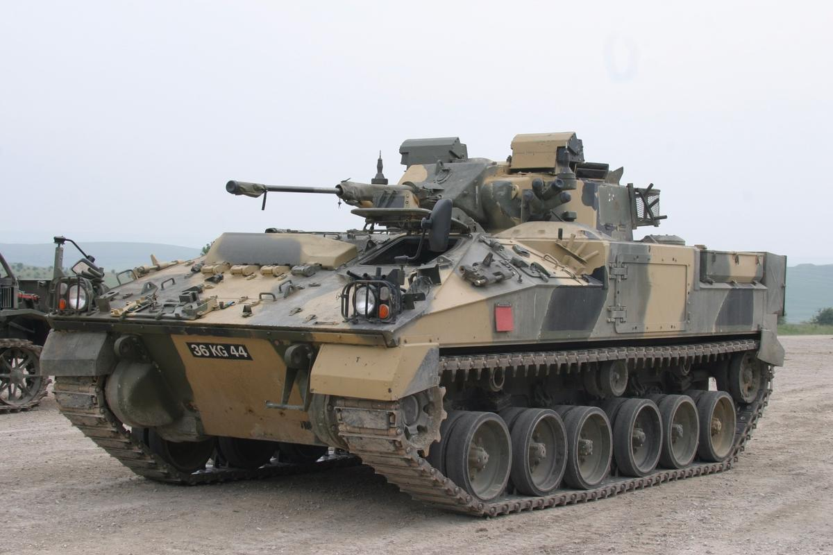 The new 40 mm Cased Telescoped Cannon System will be installed on British Army Ajax and Warrior (seen here) armored vehicles