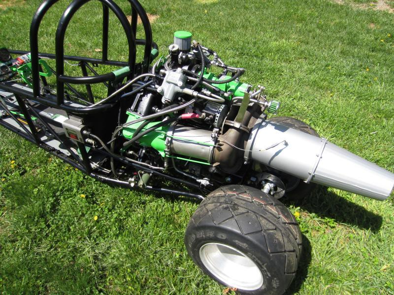 Jet Powered Junior Dragster engine