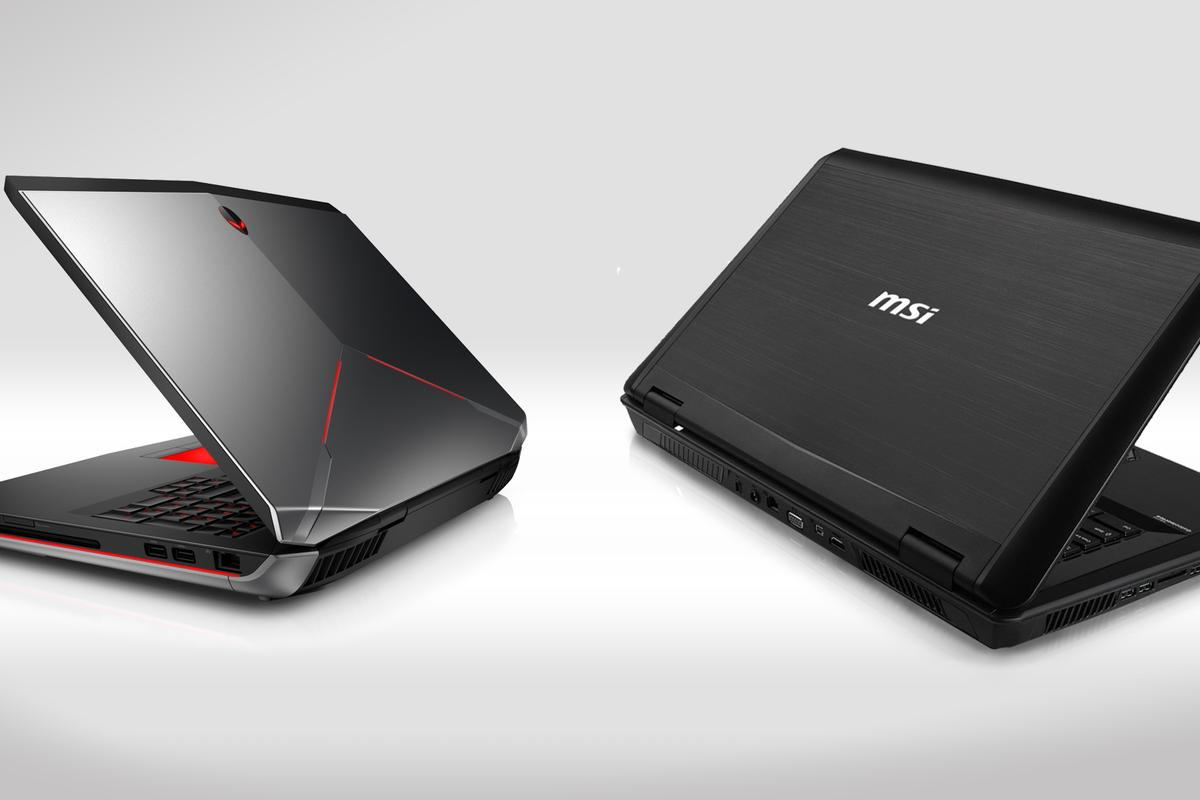 The Alienware 17 (left) and MSI GT70 2OD (right)
