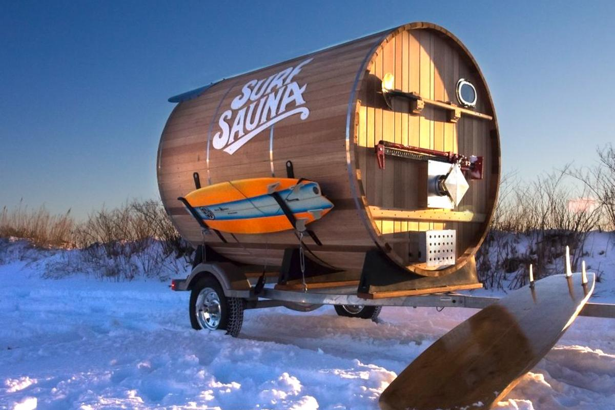 Surf Sauna was built by a group of surfers and craftsmen based in Portsmouth, New Hampshire (Photo: Surf Sauna)
