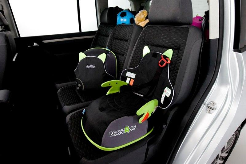 The BoostApak coverts from child's backpack to booster seat