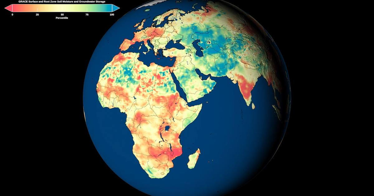 NASA's first global groundwater maps reveal drought in remote areas