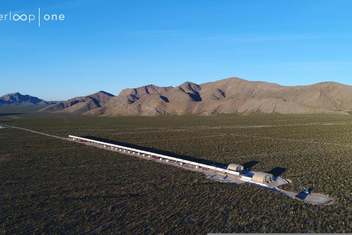 The Hyperloop One test facility in Nevada