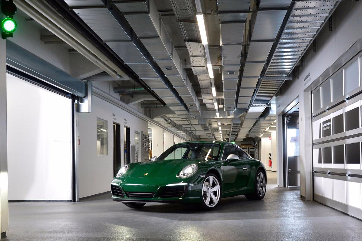 The onemillionth 911, resplendent in Irish Green