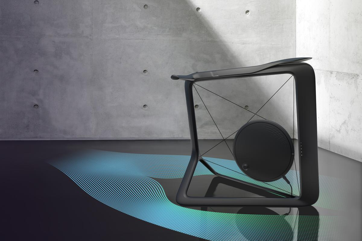 Vela is a striking concept that turns your home workout bike into a work of art when not in use