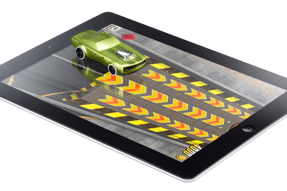 The Hot Wheels Apptivity sees users steering their special cars around the screen, where they interact with in-game action
