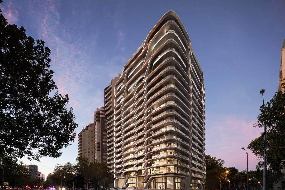 The Mayfair Residential Tower would rise to a height of 64.4 m (211 ft)