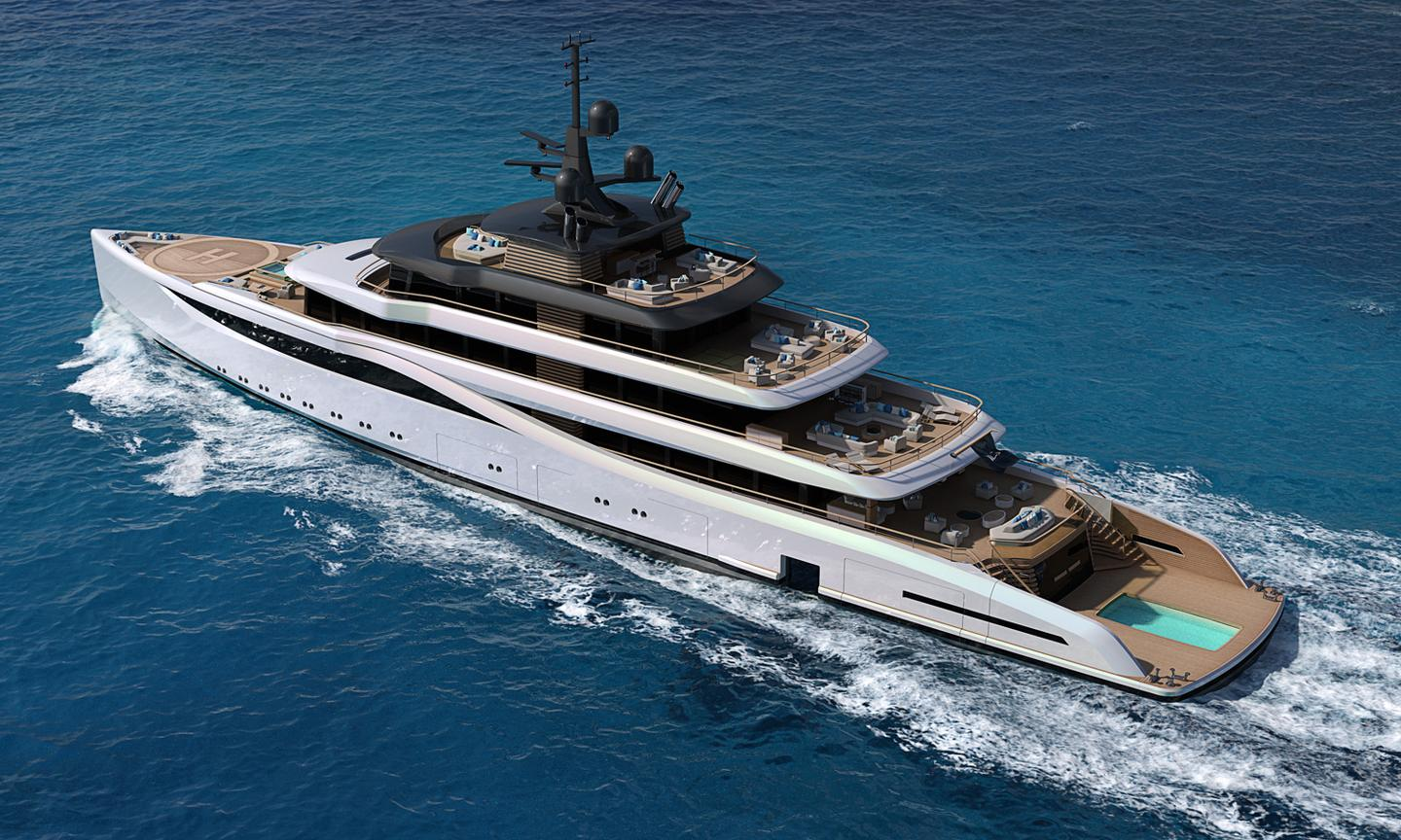 Nauta Design eliminates boundaries between manmade vessel and natural environment with the 78m Slipstream design concept