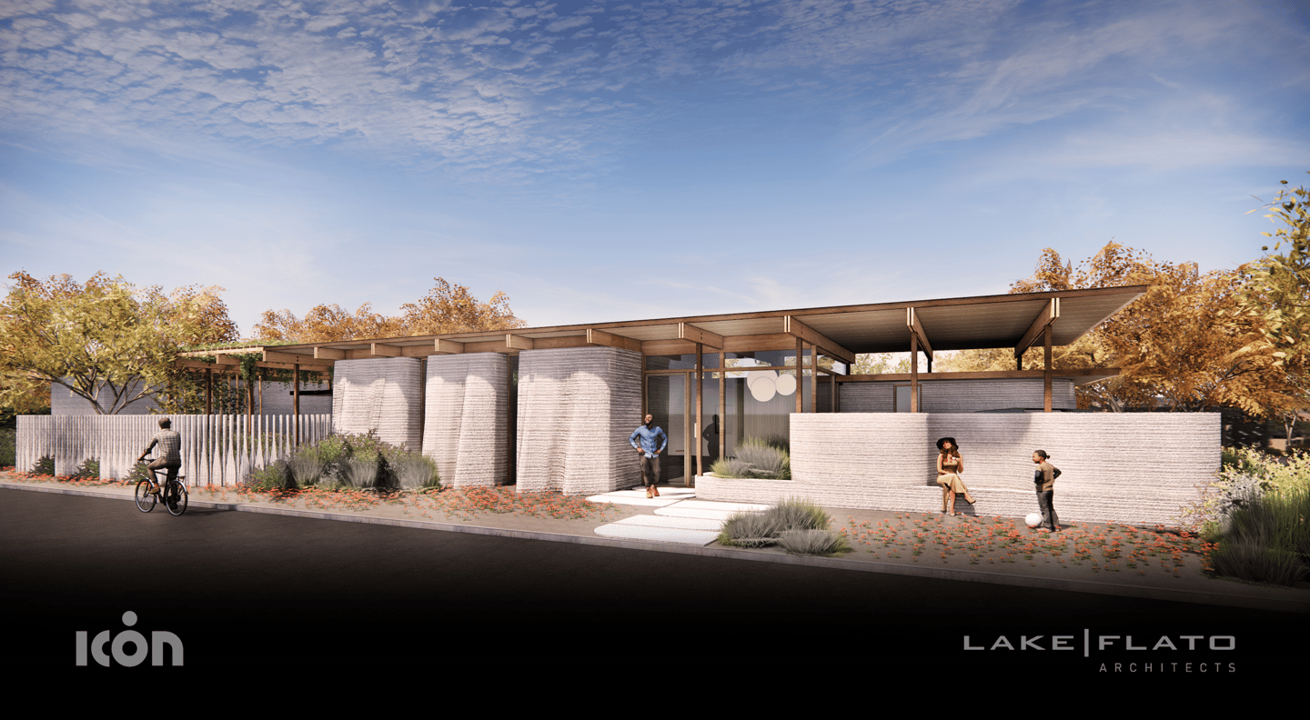 House Zero is currently being built in East Austin, Texas, using Icon's next generation 3D printer