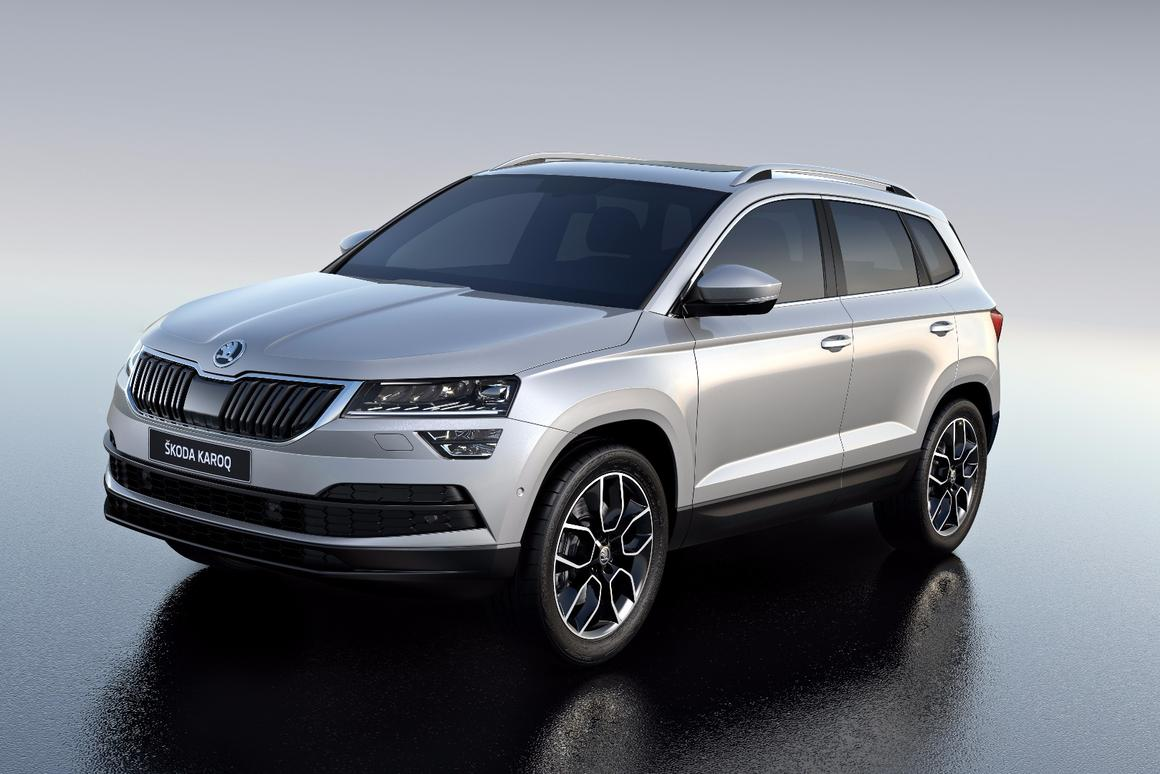 Skoda has developed its SUVdesign language further with the Karoq