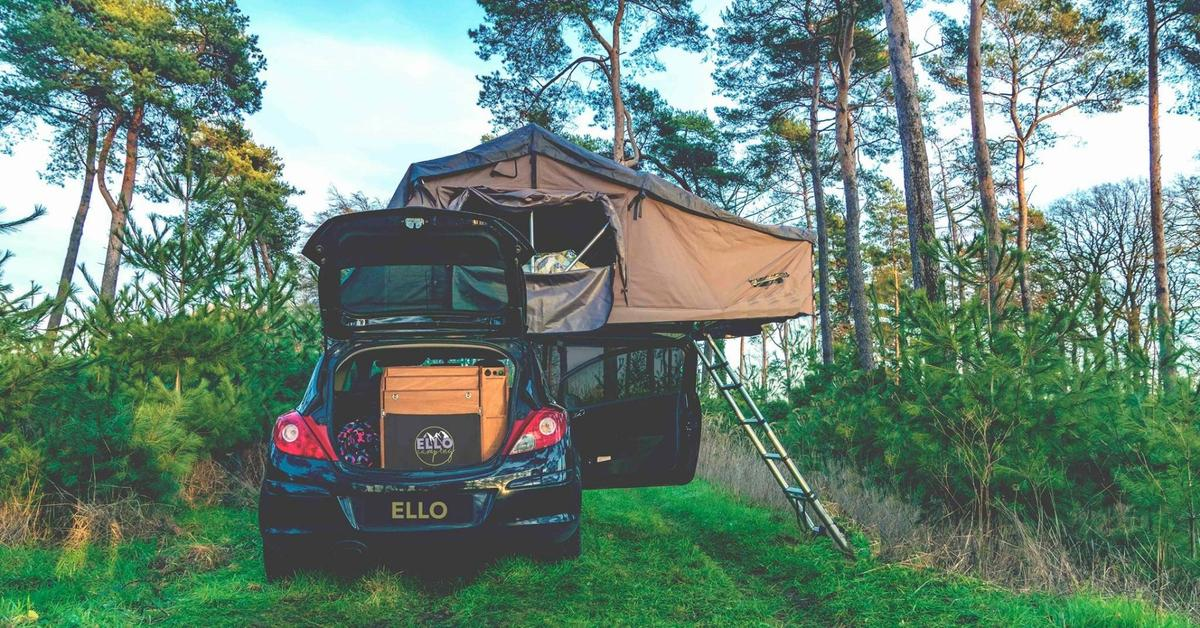 Add a roof-top tent to ahatchback that can carry one,and you make a proper RV