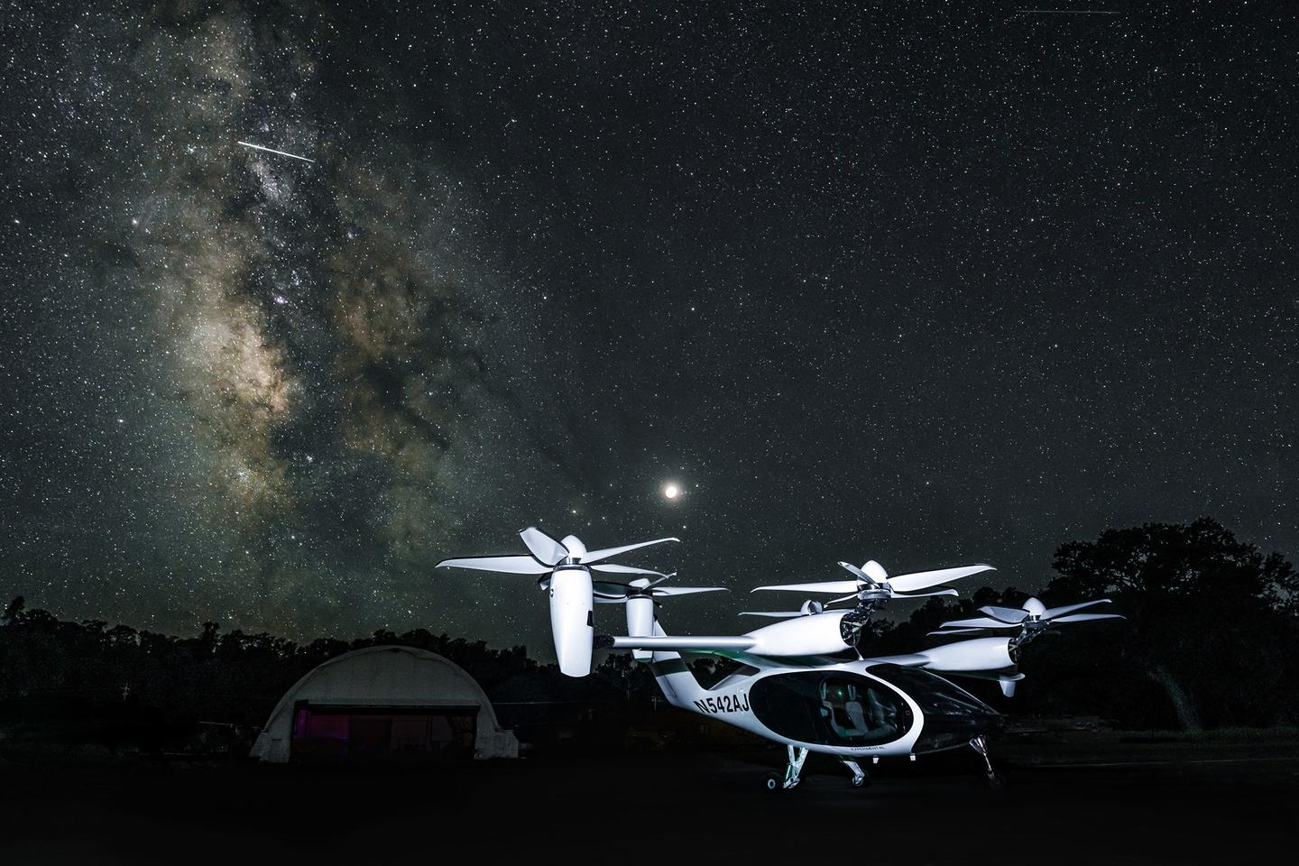 Under the stars: Joby's five-seat eVTOL aircraft is at the vanguard of a quiet, clean urban mobility transformation