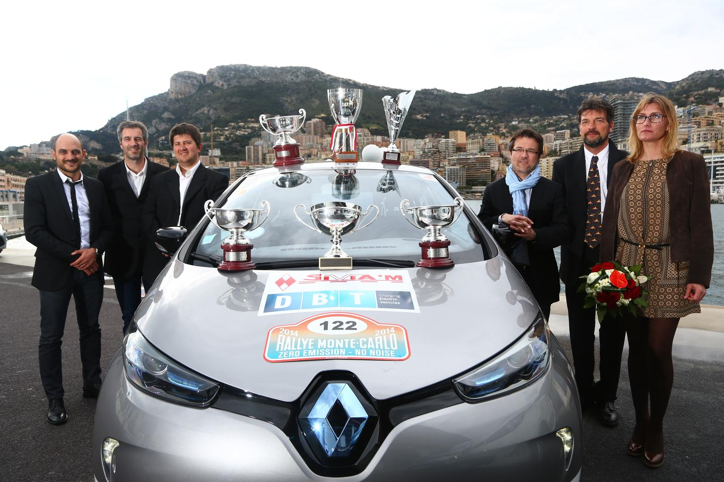 Renault's ZOE not only took first place overall but also captured the podium for the Regularity Prize, the Energy Consumption Prize, an Autotest (auto slalom) on Monaco's harbor, and finally a Team Challenge