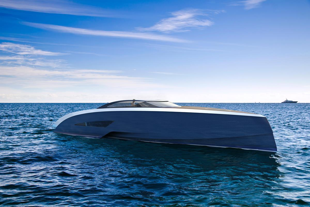 The yacht follows on the 1930s Bugatti tradition of building racing boats and yachts
