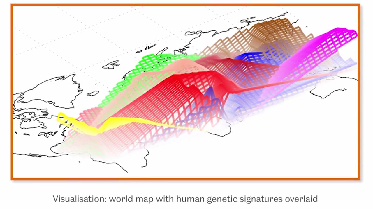 The method looks at 100,000 DNA signatures, known as ancestry-informative markers (AIMs) that are typical to specific geographical regions (Image: University of Sheffield)