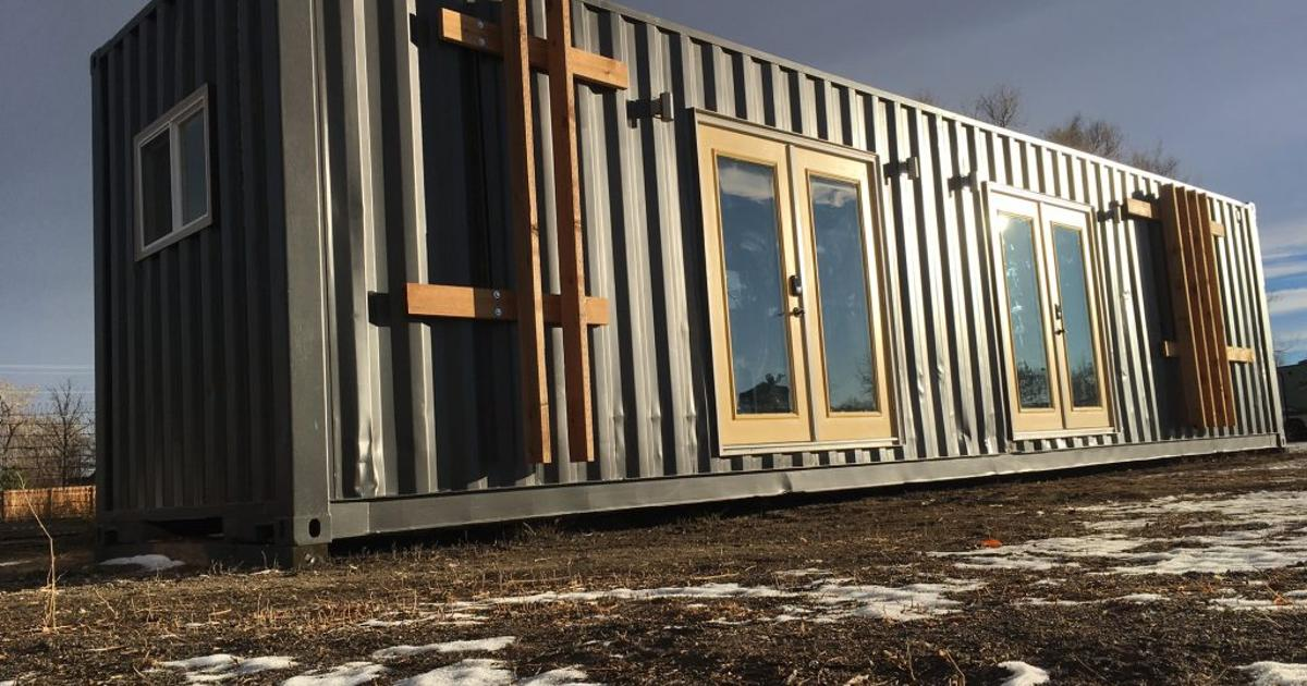 Used shipping container turned into tiny home for two