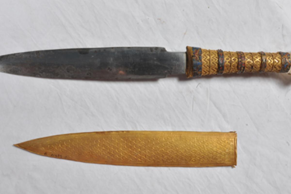 The origin of the metal has been a topic of discussion since the dagger was discovered in 1925